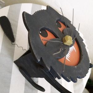 Wooden Halloween Cheshire Cat container